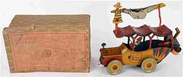 NIFTY TIN WINDUP HI-WAY HENRY CAR w/ BOX