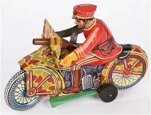 MARX PROTOTYPE SPARKLING SOLDIER MOTORCYCLE