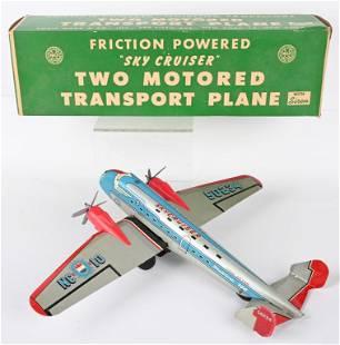 MARX FRICTION SKYCRUISER TRANSPORT AIRPLANE w/BOX