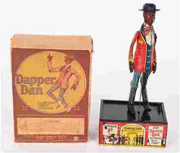 MARX TIN WINDUP DAPPER DAN JIGGER BANK w/ BOX