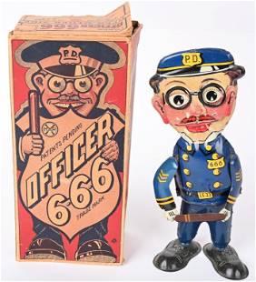 MARX TIN WINDUP OFFICER 666 w/ BOX