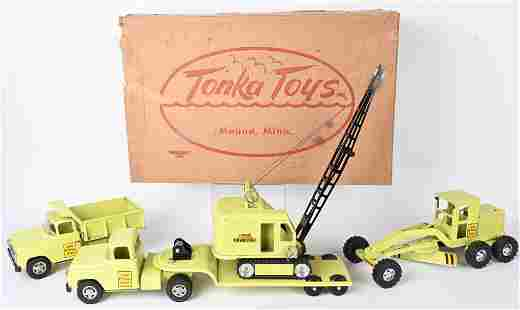 TONKA B-215 HI-WAY CONSTRUCTION SET w/ BOX