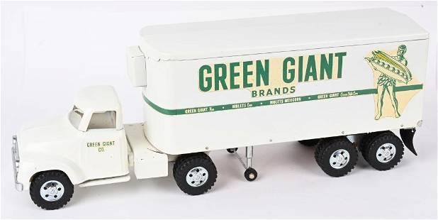 TONKA 1956 GREEN GIANT SEMI TRUCK & TRAILER