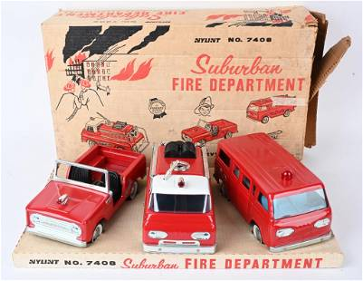 NYLINT SUBURBAN FIRE DEPT. SET w/ BOX