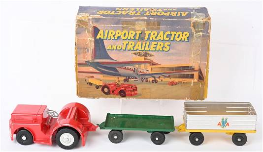 DOEPKE TOYS AIRPORT TRACTOR & TRAILERS BOXED SET