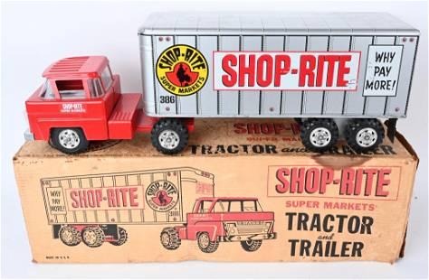 MARX SHOP RITE SEMI TRUCK & TRAILER w/ BOX