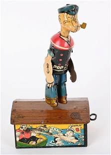 MARX TIN WINDUP POPEYE DANCER on the ROOF