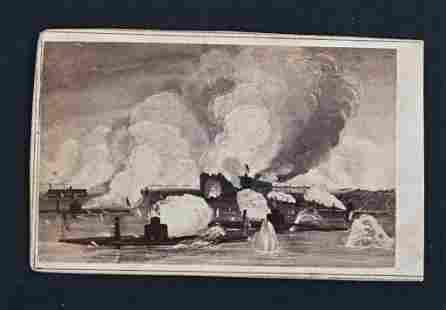 CIVIL WAR NAVAL BATTLE CDV, ANTHONY BACKMARK