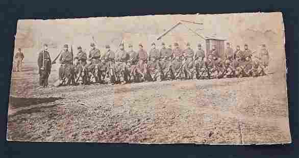 CIVIL WAR ALBUMEN IMAGE OF UNION REGIMENT