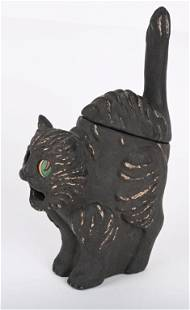 VINTAGE HALLOWEEN FULL BODY CAT CANDY CONTAINER