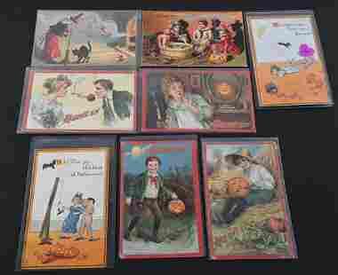 8- RAPHAEL TUCK & SONS HALLOWEEN POST CARDS