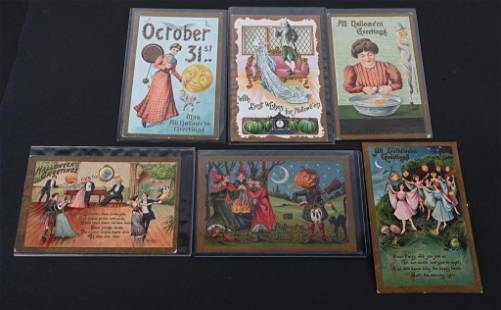 6- EARLY HALLOWEEN POST CARDS