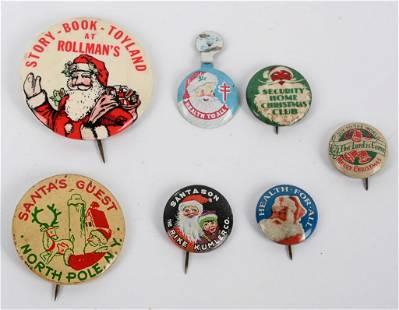 7- ORIGINAL CHRISTMAS SANTA CLAUS BUTTONS