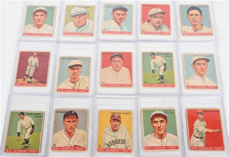 LOT OF (15) 1933 GOUDY BASEBALL CARDS