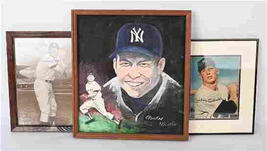 MICKEY MANTLE AUTOGRAPHED LOT PICTURES