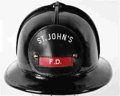 CAIRNS LEATHER WAR BABY FIRE HELMET ST. JOHNS FD