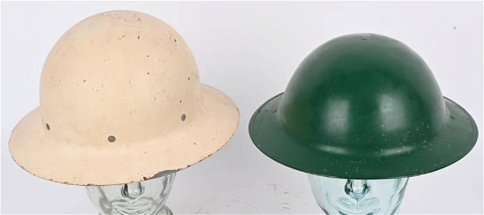2- WWII NEW JERSEY AIR RAID HELMETS