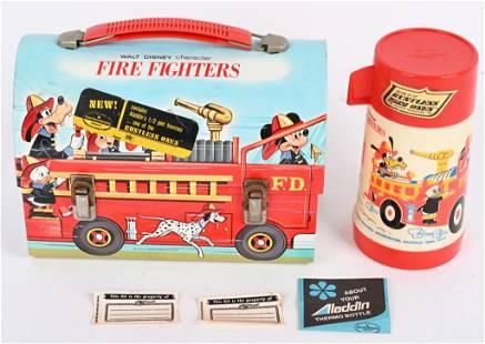 WALT DISNEY FIRE FIGHTERS LUNCHBOX w/ THERMOS