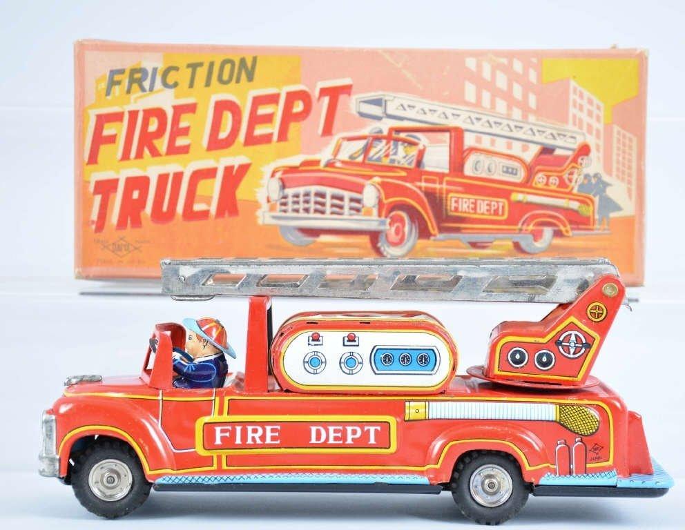 DAIAYA Tin Friction FIRE TRUCK mib