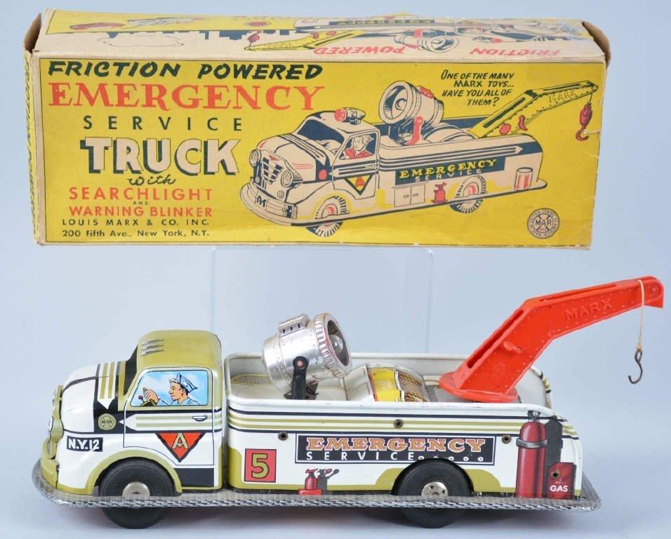 MARX Friction EMERGENCY SERVICE TRUCK w/Box