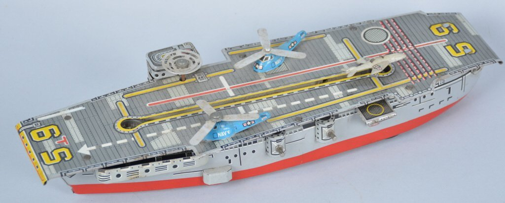Japan Tin Friction Airplane Carrier Ship