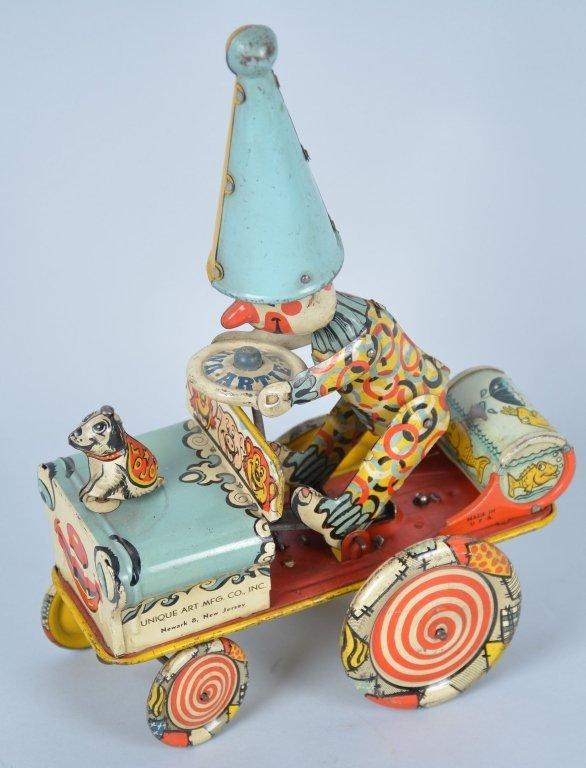 Unique Art Tin Windup Artie the Clown