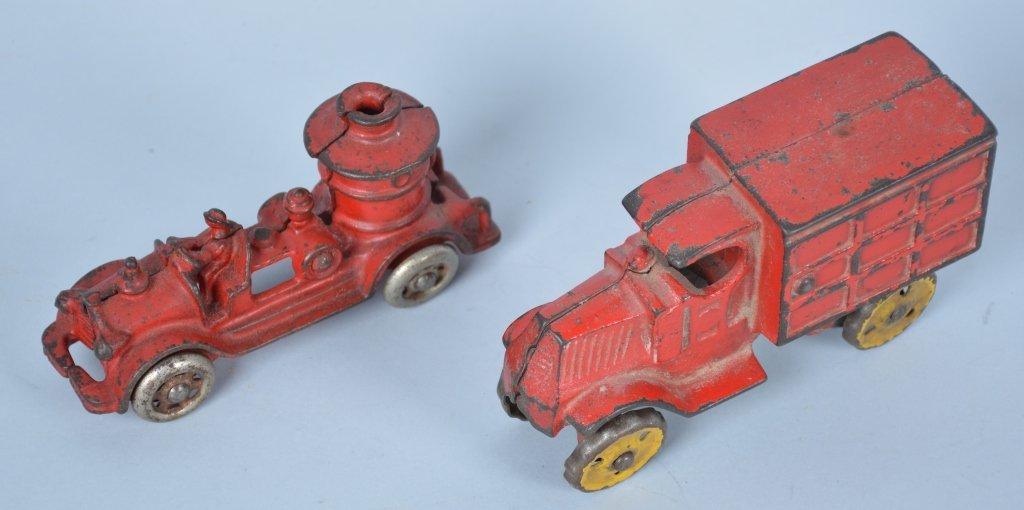 Lot of 2 1930's Cast Iron Trucks