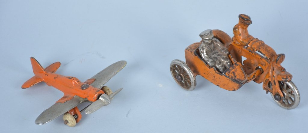 Lot of 2 1930's Hubley Cast Iron Toys