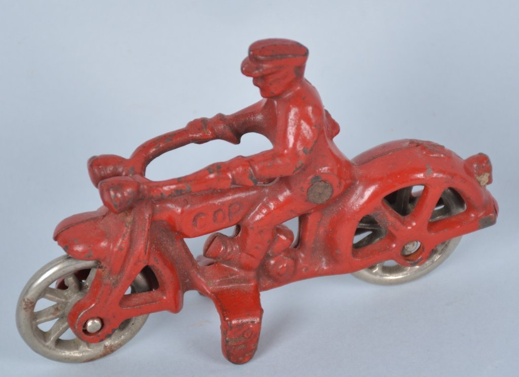 Hubely 1930's Cast iron Motorcycle Toy