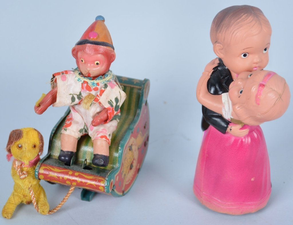 Lot of 2 Japan Celluloid Windup Toys