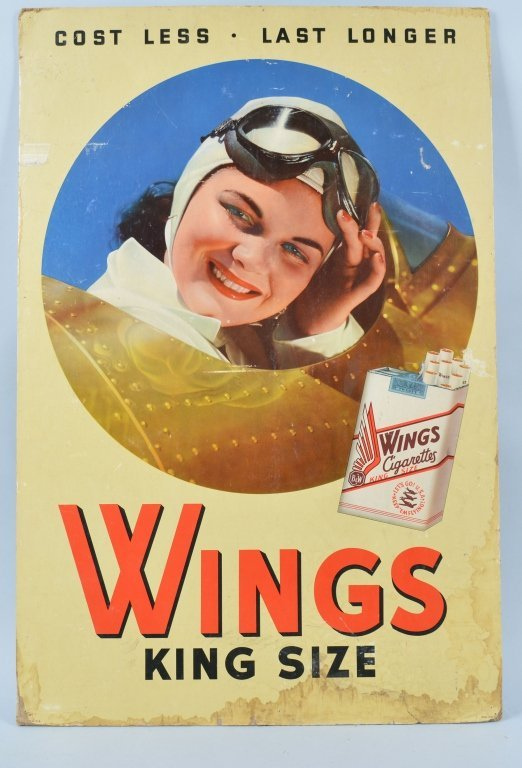 Vintage Wings Cigarettes Advertising Poster