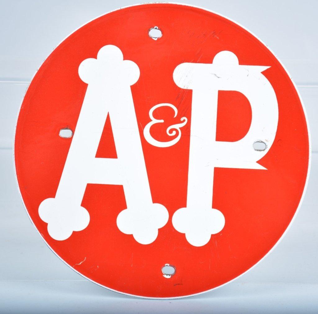 Vintage A&P Porcelain Sign