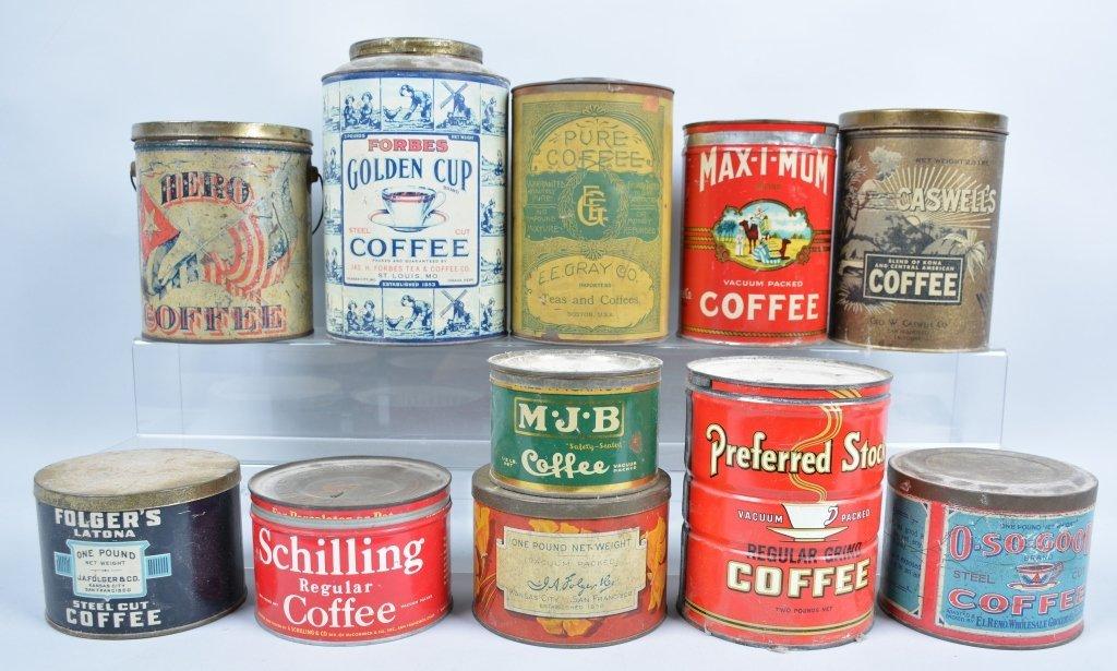 11-Vintage Coffee Tins