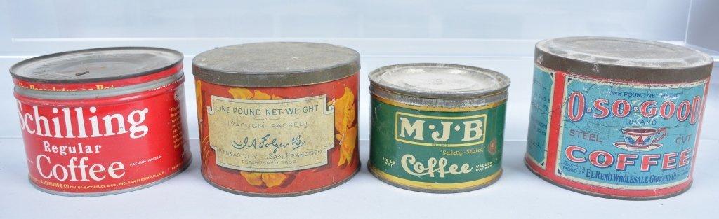 11-Vintage Coffee Tins - 2