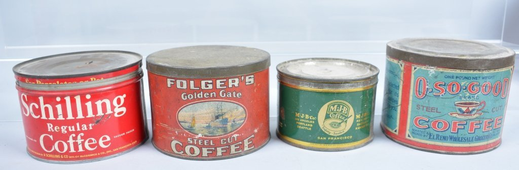 11-Vintage Coffee Tins - 3