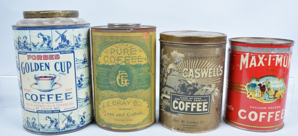11-Vintage Coffee Tins - 4