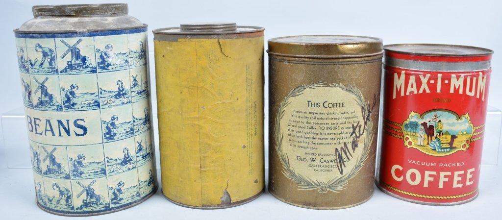 11-Vintage Coffee Tins - 5
