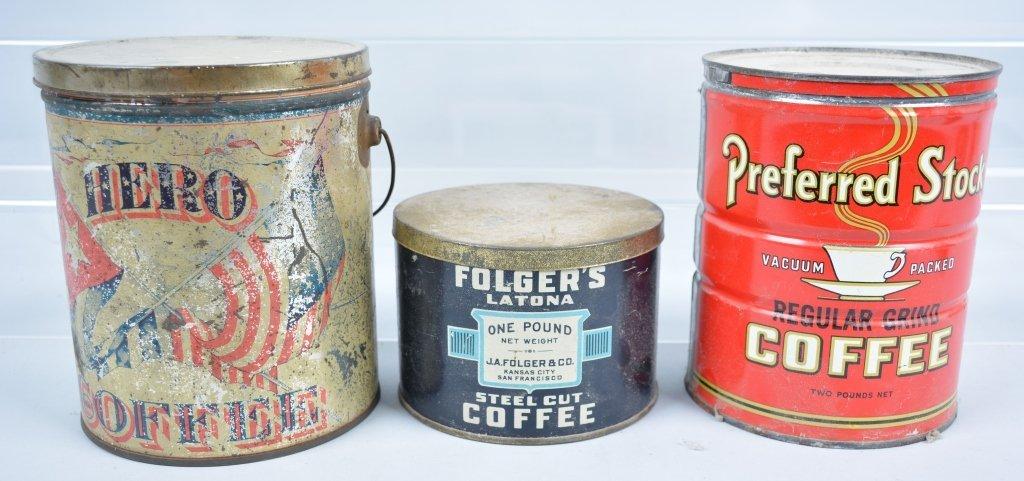 11-Vintage Coffee Tins - 6