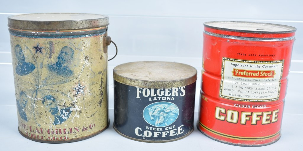 11-Vintage Coffee Tins - 7