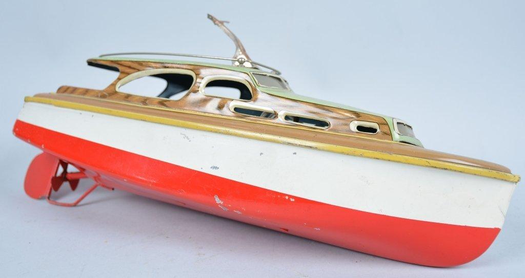 SAN Japan Tin Windup CABIN CRUISER BOAT