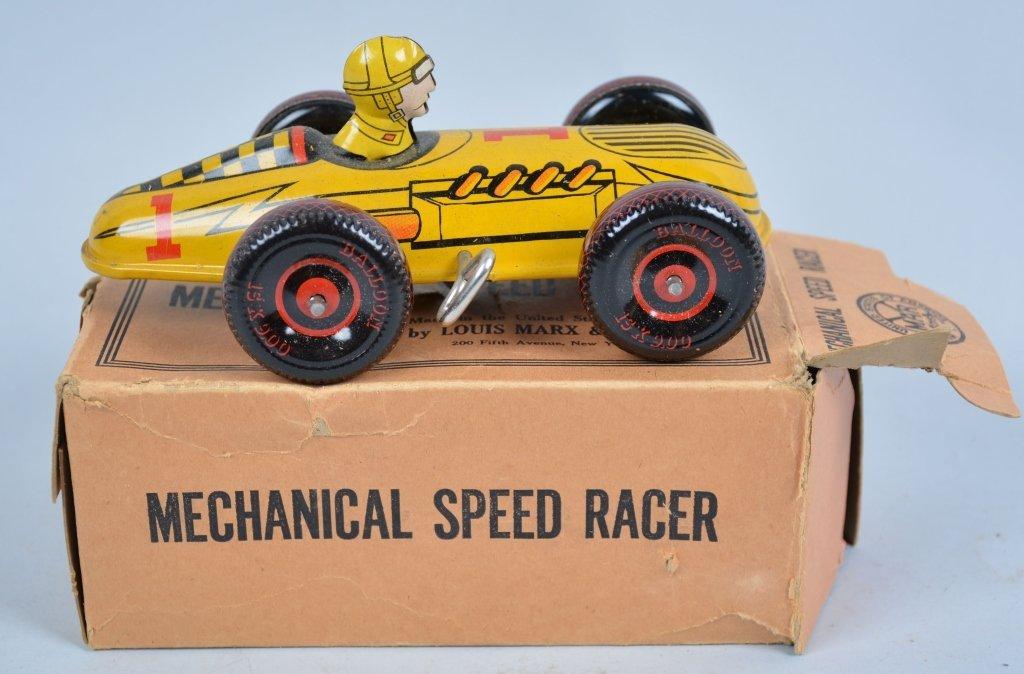 MARX Tin Windup SPEEDWAY RACER w/Box