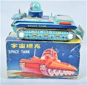 RED CHINA Battery Op SPACE TANK w/Box