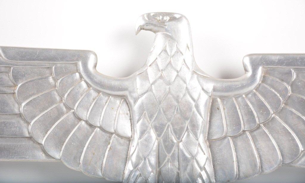 WW2 Nazi German Aluminum Eagle From Train - 2