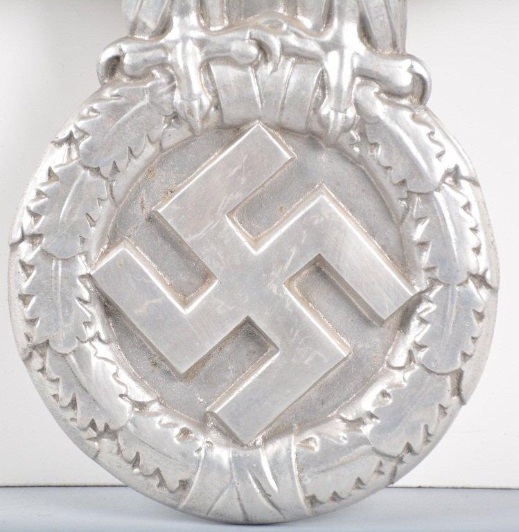 WW2 Nazi German Aluminum Eagle From Train - 3