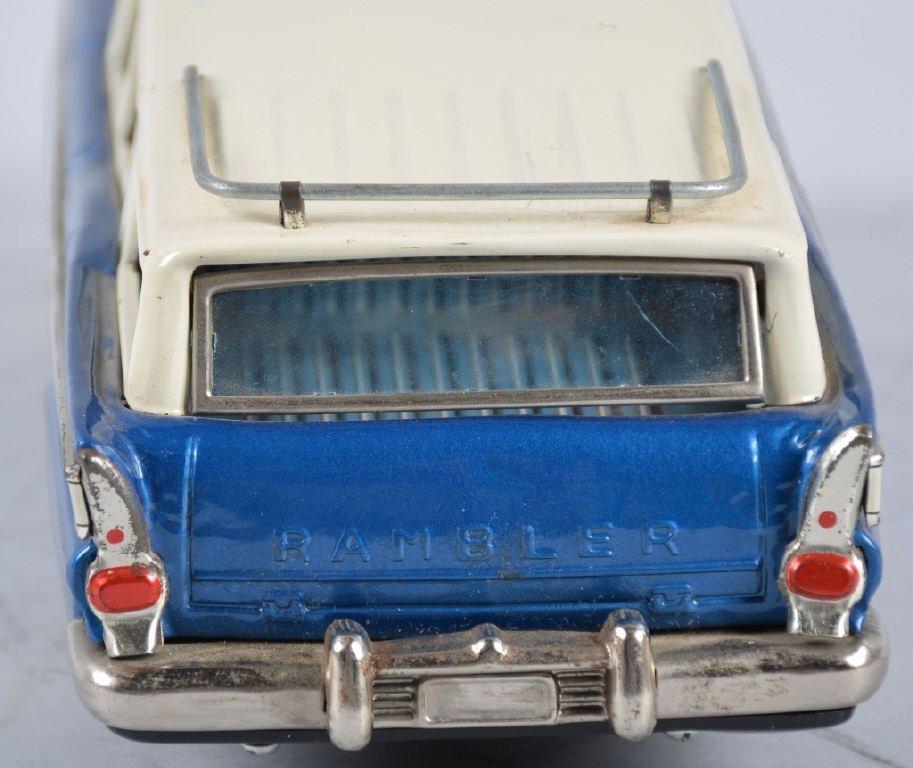 BANDAIN Japan Tin Friction 1959 NASH RAMBLER WAGON - 4