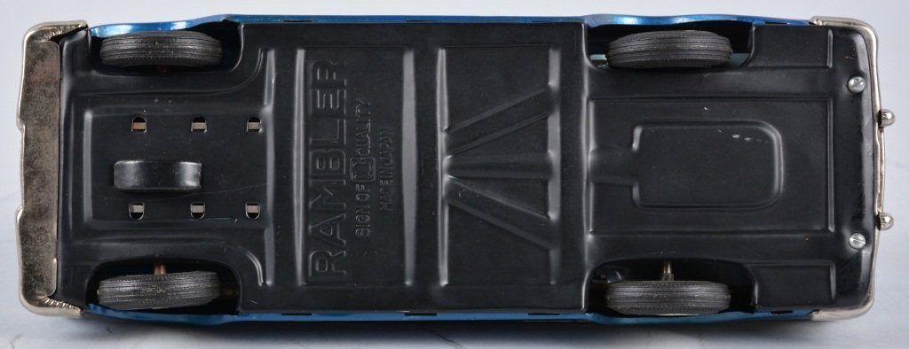 BANDAIN Japan Tin Friction 1959 NASH RAMBLER WAGON - 5