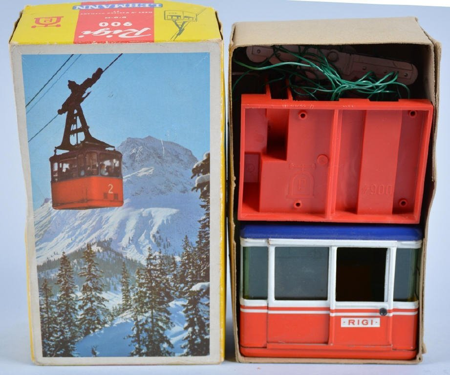 LEHMANN Tin RIGI SKI LIFT TOY w/Box