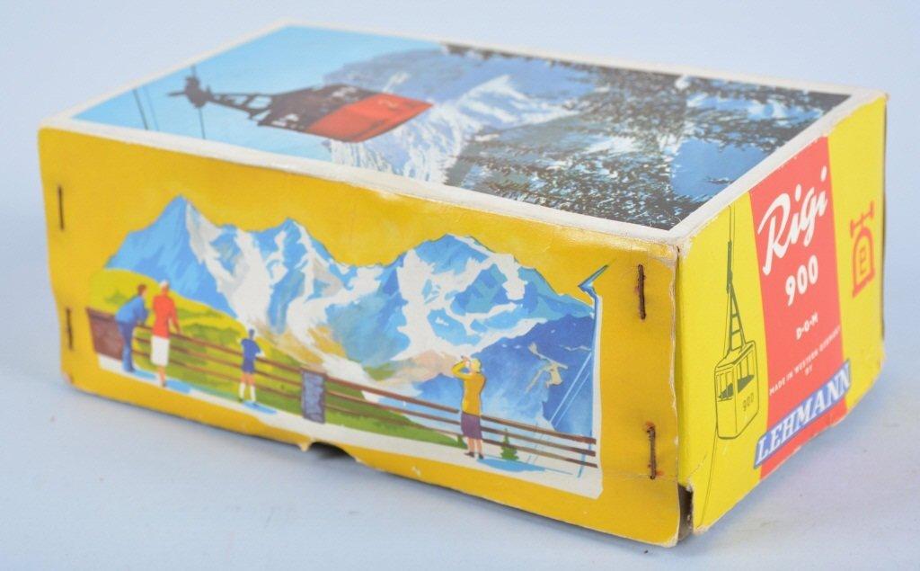 LEHMANN Tin RIGI SKI LIFT TOY w/Box - 3