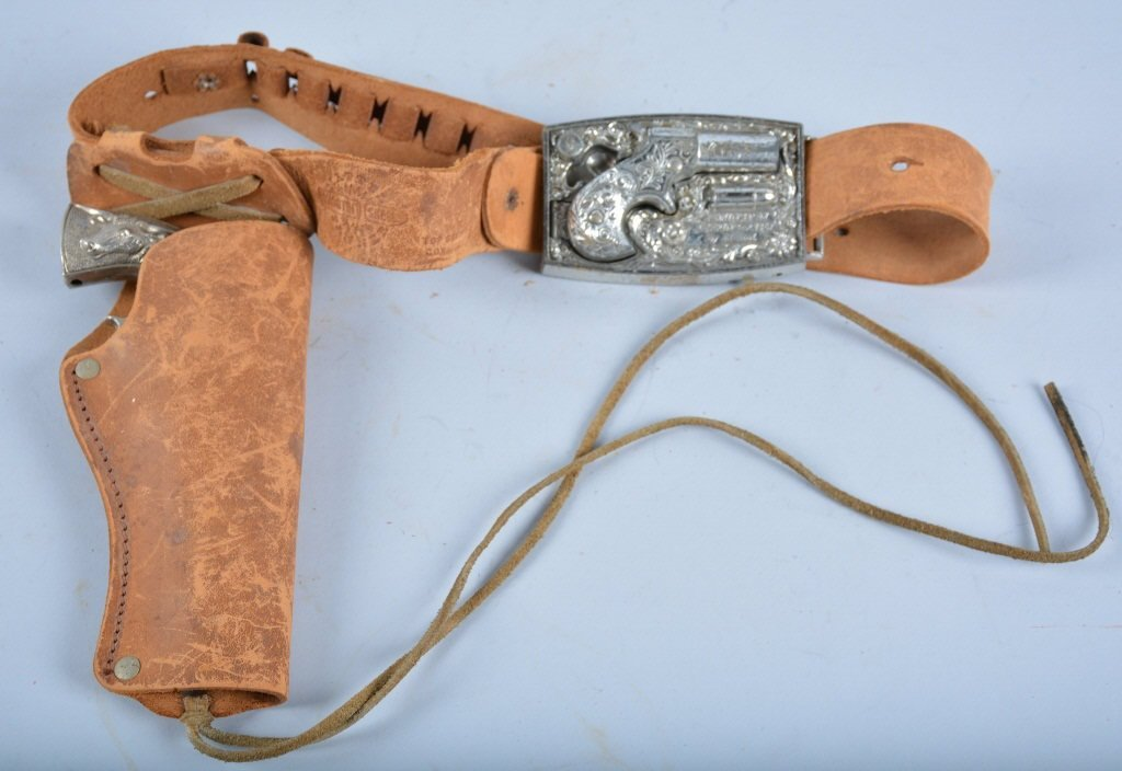 MATTEL 1867 DERRINGER BELT BUCKLE HOLSTER SET