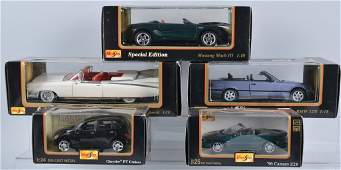 Lot of 5 Special Edition MAISTO DIECAST CARS w/BOX